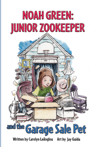 Noah Green Junior Zookeeper and The Garage Sale Pet chapter book by Carolyn Leiloglou